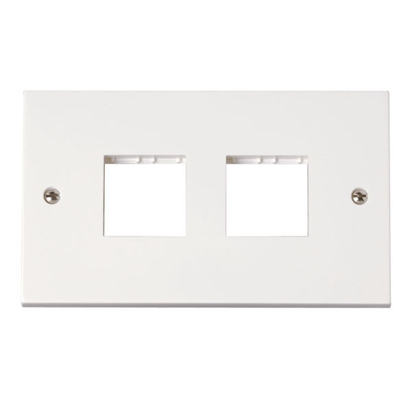 Click PRW403 1 Gang Switch Plate With 3 Module Aperture