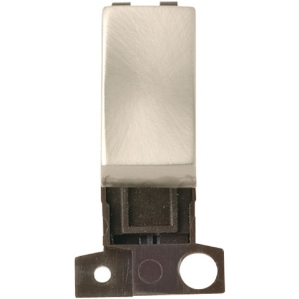 Click Scolmore MD018SC 13a Resistive 10ax DP Switch - Satin Chrome