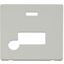 Click SCP153PW Connection Unit With Flex Outlet & Neon Cover Plate - White