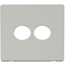 Click SCP222PW 2 Gang Toggle Switch Cover Plate - White