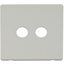 Click SCP232PW Twin Coaxial Socket Cover Plate - White