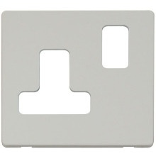 Click SCP234PW 15A Round Pin Switched Socket Cover Plate - White