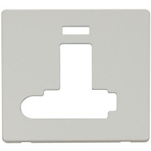 Click SCP352PW Switched Connection Unit With F/O & Neon (Lockable) Cover Plate - White