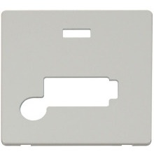 Click SCP353PW Conn. Unit With Flex Outlet & Neon (Lockable) Cover Plate - White