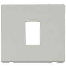 Click SCP401PW 1 Gang Single Aperture Cover Plate - White