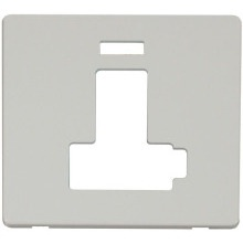 Click SCP452PW Switched Connection Unit With Neon (Lockable) Cover Plate - White