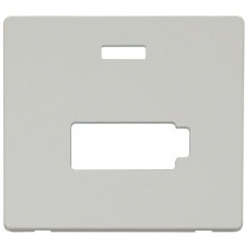Click SCP453PW Connection Unit With Neon (Lockable) Cover Plate - White