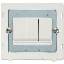 Click SIN013PW 10AX 3 Gang 2 Way Switch Insert - White