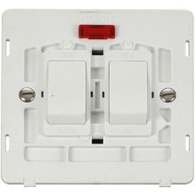 Click SIN024PW 20A Sink & Bath Switch With Neon Insert - White