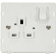 Click SIN035PW 1 Gang 13A DP Switched Socket Insert - White