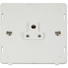 Click SIN039PW 1 Gang 2A Round Pin Socket Outlet Insert - White