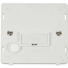 Click SIN050PW 13A Fused Connection Unit With Flex Outlet Insert - White