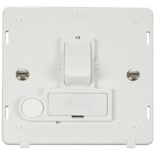 Click SIN051PW 13A Fused Switched Connection Unit With Flex Outlet Insert - White