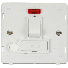 Click SIN052PW 13A Fused Switched Connection Unit With Flex Outlet & Neon Insert - White