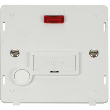 Click SIN053PW 13A Fused Connection Unit With Flex Outlet & Neon Insert - White