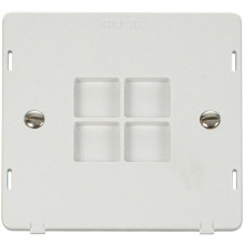 Click SIN060PW 1 Gang Blank Plate Insert - White