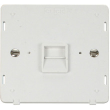 Click SIN125PW Single Telephone Socket - Secondary Insert - White