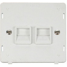 Click SIN126PW Twin Telephone Socket - Secondary Insert - White