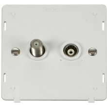 Click SIN170PW Satellite & Coaxial Socket Insert - White