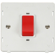 Click SIN200PW 45A 1 Gang Plate DP Switch Insert - White