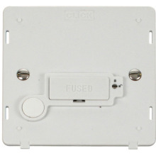 Click SIN250PW 13A Fused Connection Unit With Flex Outlet  (Lockable) Insert - White
