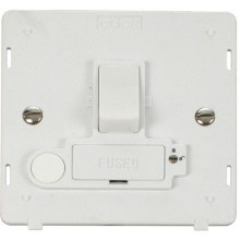 Click SIN251PW 13A Fused Switched Connection Unit With Flex Outlet (Lockable) Insert - White