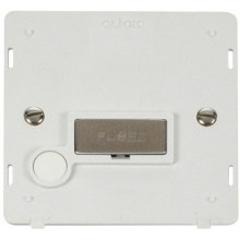 Click SIN550PWSS INGOT 13A Fused Conn. Unit With Flex Outlet Insert - White / St. Steel