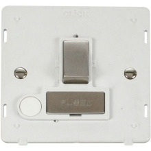 Click SIN551PWSS INGOT 13A Fused Sw. Conn. Unit With Flex Outlet Insert - White / St. Steel