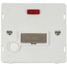 Click SIN553PWSS INGOT 13A Fused Conn. Unit With F/O Insert & Neon - White / St. Steel
