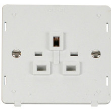 Click SIN630PW 1 Gang 13A Socket Insert - White