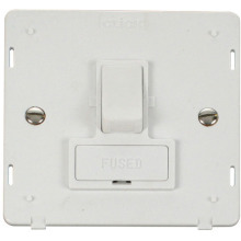Click SIN651PW 13A Fused Switched Connection Unit Insert - White