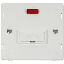 Click SIN653PW 13A Fused Connection Unit With Neon Insert - White