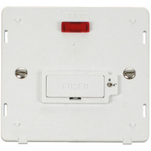 Click SIN853PW 13A Fused Connection Unit With Neon (Lockable) Insert - White