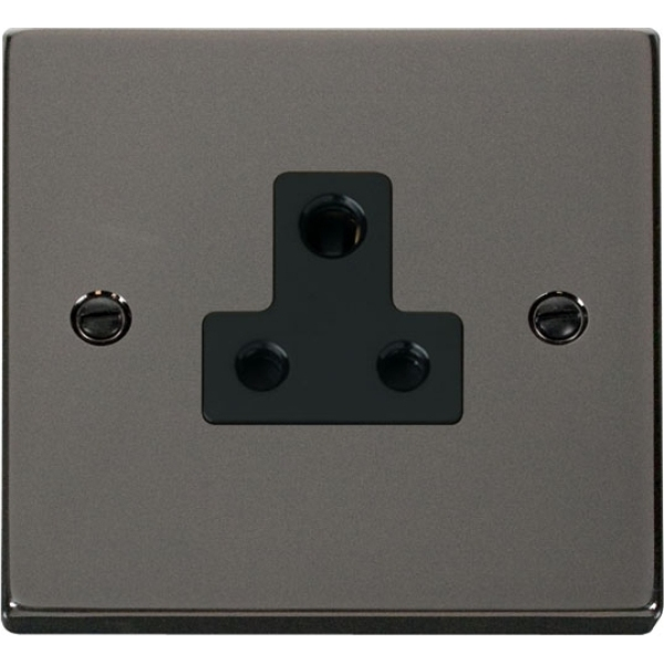 Click VPBN038BK 5A Round Pin Socket Outlet