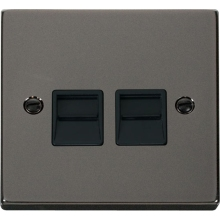 Click VPBN126BK Twin Telephone Socket Outlet Secondary