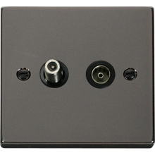 Click VPBN157BK 1 Gang Satellite & Isolated Coaxial Socket Outlet