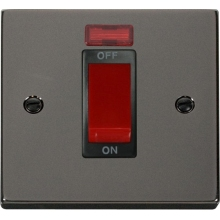 Click VPBN201BK 1 Gang 45A DP Switch With Neon