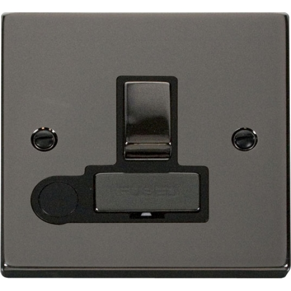 Click VPBN551BK 13A Fused 'Ingot' Switched Connection Unit With Flex Outlet