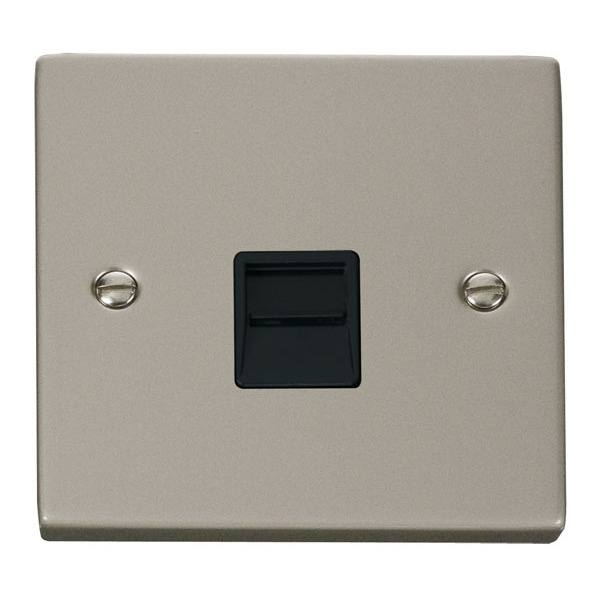 Click VPPN125BK Single Telephone Socket Outlet Secondary