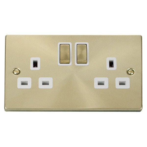 Click VPSB536WH 2 Gang 13A DP 'Ingot' Switched Socket Outlet