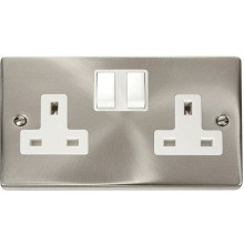 Click VPSC036WH 2 Gang 13A DP Switched Socket Outlet