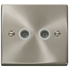 Click VPSC066WH Twin Coaxial Socket Outlet
