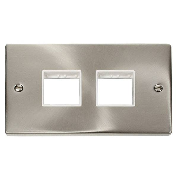 Click VPSC404WH 2 Gang Plate (2 x 2) Aperture