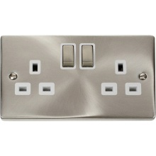 Click VPSC536WH 2 Gang 13A DP 'Ingot' Switched Socket Outlet