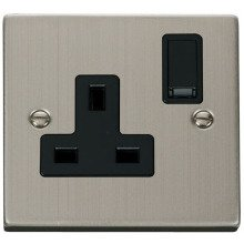 Click VPSS035BK 1 Gang 13A DP Switched Socket Outlet