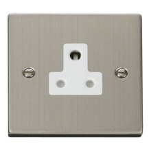 Click VPSS038WH 5A Round Pin Socket Outlet