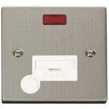 Click VPSS053WH 13A Fused Connection Unit With Flex Outlet & Neon