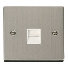 Click VPSS120WH Single Telephone Socket Outlet Master