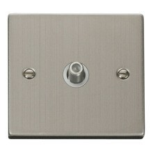 Click VPSS156WH 1 Gang Satellite Socket Outlet