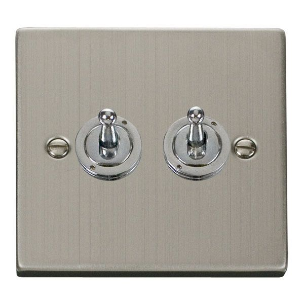 Click VPSS422 2 Gang 2 Way 10AX Toggle Switch
